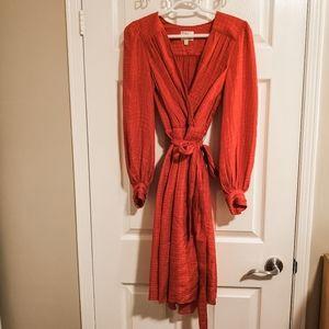 Milly Red Wrap Dress